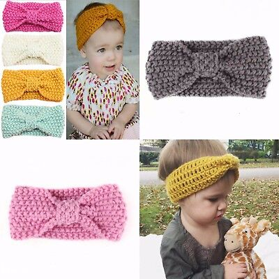 Baby Wool Knitted Headband Hair Band Ski Hat Earmuffs Winter Warm Girls
