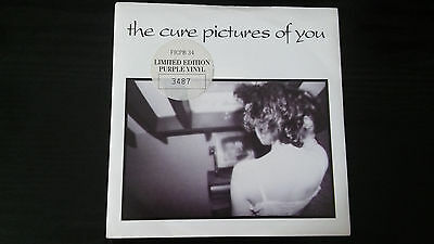 "The Cure - Pictures Of You - Limited Edition Purple Vinyl Record 7"" Single 1990"