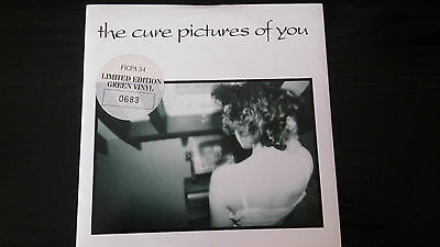 "The Cure - Pictures Of You - Limited Edition Green Vinyl Record 7"" Single 1990"