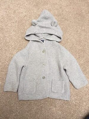 Baby Gap Knitted Hooded Cardigan 6-12 Months