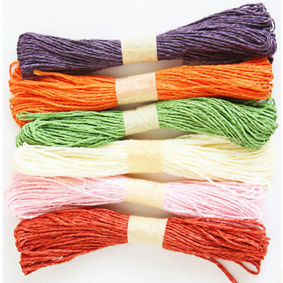 2mm Width Paper String Gift Wrapped Rope Wedding Party Home Decor DIY Craft