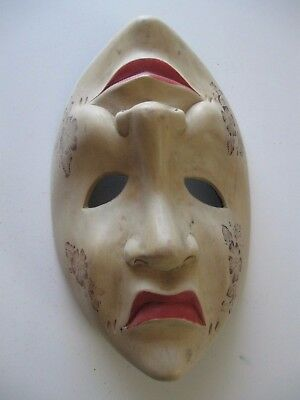 Artistic Hand Carved Thespian Mask