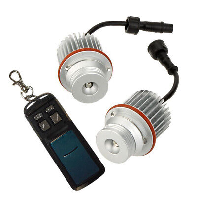 2x(1 Pair E39 10W RGB Angel Eyes light with Controller LED Marker for  E39 A4T7