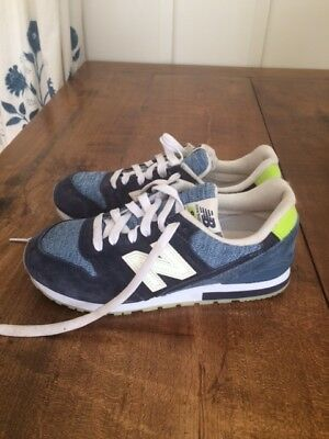 New Balance 574 Gray Navy Sneakers Boys Kids Size 1 Youth