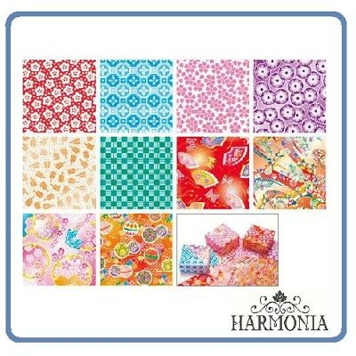 Japanese Origami Paper Washi Chiyogami  7.5 cm x 7.5 cm 40 sheets 10 designs