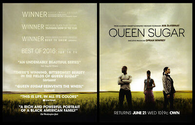 Queen Sugar 2-page clipping ad 2017 OWN series