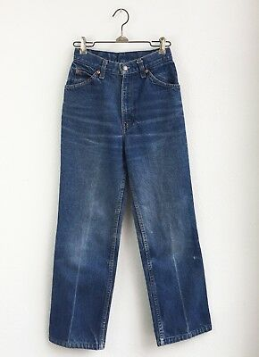 VINTAGE LEVI's LADIES INDIGO BLUE JEANS size 24 x 27 1/2 PERFECTLY FADED