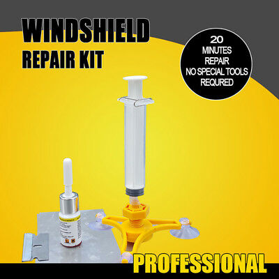 Car Windscreen Windshield Repair Tool DIY Car Kit Wind Glass For Chip & Crack GG