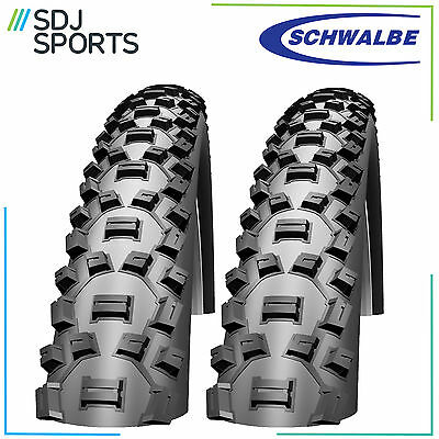 "2x SCHWALBE NOBBY NIC 26"" x 2.1 PERFORMANCE SERIES MOUNTAIN BIKE TYRES (1 PAIR)"