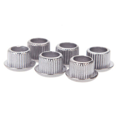 100x(Guitar Tuner Adapter Nickel Plating with plastic Peghead Holes Silver L7Q4