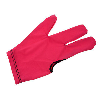 100x(Billiard Glove of 3 fingers for shooters - red J6O8