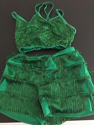 Kelle Dance Costume Green Adult M