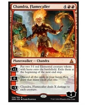 Chandra, Flamecaller - Planeswalker - Oath of the Gatewatch (Mythic Rare) MTG
