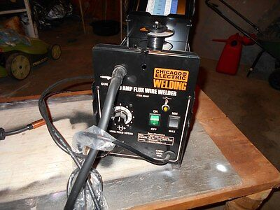 90 Amp Flux Core Wire Feed Arc Welder Machine Portable Electric 120 V
