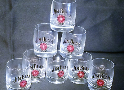 Eight Jim Beam Nascar Autographed Shot Glasses