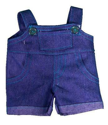 "BLUE DENIM OVERALLS DUNGAREES TEDDY CLOTHES FOR 16""/40cm BUILD YOUR OWN BEARS"
