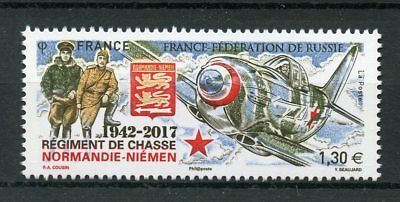 France 2017 MNH WWII WW2 Normandy Niemen Hunting Regiment JIS Russia 1v Stamps