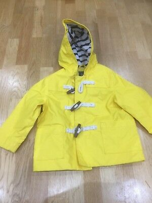 Baby boys or girls unisex yellow hooded raincoat/mac lined 18-24 months lovely