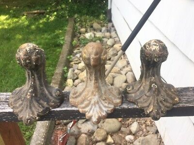 3 1890's Cast Iron Claw Feet For Cast Iron Tub