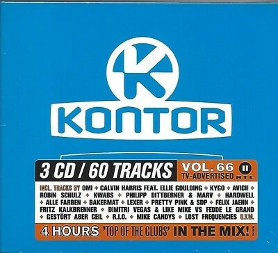 Kontor - Top Of The Clubs Vol. 66 * New 3Cd's 2015 * Neu *