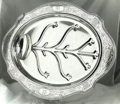 AN IMPRESSIVE GORHAM STERLING SILVER WELL & TREE PLATTER, 103.7 Ozs., RARE