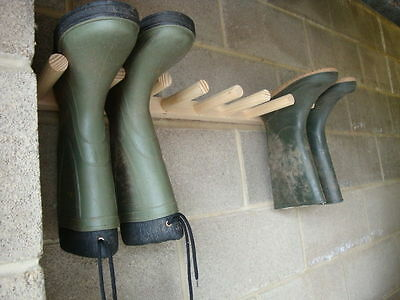 WAll MOUNTED  WELLY WELLINGTON BOOT/ TOOL RACK  2,4 or 6 PAIRS.  FREE POSTAGE