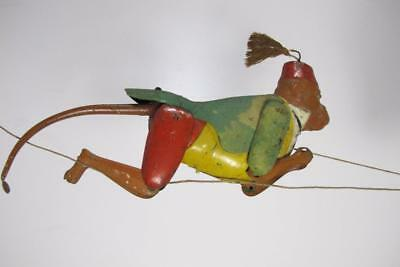 Antique Vintage Lehmann Germany Climbing Monkey  Tin Toy