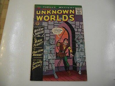 silver age Unknown Worlds #37