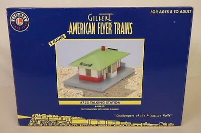 "American Flyer #6-49812 ""s"" Gauge #755 Talking Station-New In Original Box!"