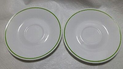 Corelle 6 1 4 White Plates With Green Trim Set Of 2 6 49 Picclick