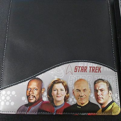 Star Trek Captains Leather Checkbook Cover Kirk Picard Sisco Janeway