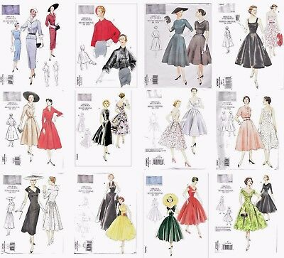 Vogue Sewing Patterns Retro Vintage 1950 Miss Skirts Dresses Jackets Capes OOP