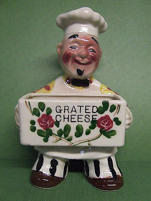 Vintage Chef/Baker/Cook Grated Cheese Holder