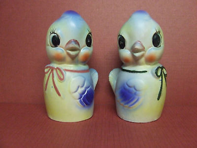 Vintage Commodore Blue Birds w/Bows Salt & Pepper Shakers (Japan)
