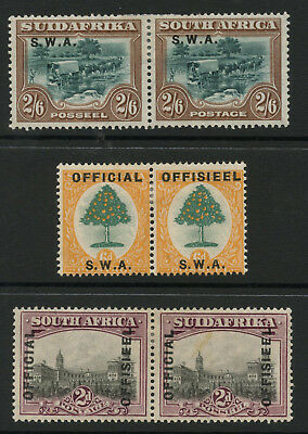 SOUTH WEST AFRICA + OFFICIAL + SA MINT PAIRS 1920-30s ROTO PRINTINGS...cv £50+