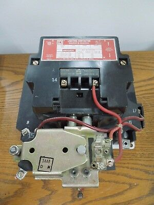 GE Electrically Held Lighting Contactor 8903 SQG-12 100A 120V Coil Used