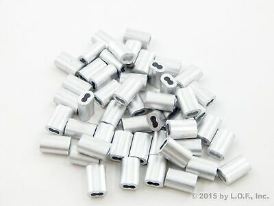 50 Ferrule Stop Rope Cable Wire End Snare Swage Trap Sleeve 1 5mm 1