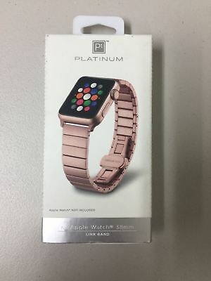 Stainless Steel Platinum Link Band For Apple Watch 38mm Pt-awb38rglb Rose Gold