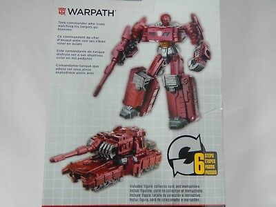 TransFormers WARPATH Legend Class Combiner Wars HASBRO Figure Sealed Pack NEW