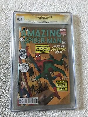 Amazing Spiderman #700 Ditko Variant CGC SS 9.6 Signed by Stan Lee