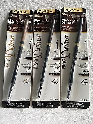 (1) L'oreal Brow Stylist Definer Ultra-Fine Tip Shaping Pen, You Choose!