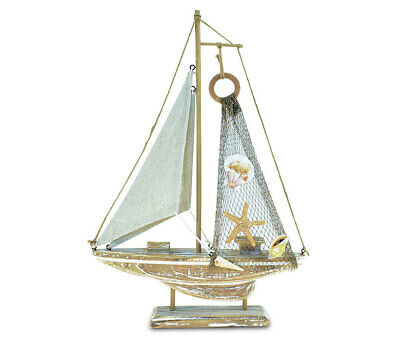 PuzzledBaja Haven Sailboat Handcrafted Wooden Nautical Decor -