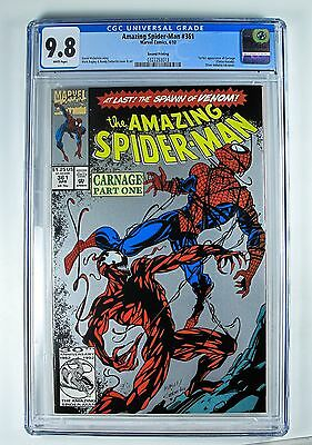 Amazing Spider-Man 361 Marvel 1st Full App of Carnage CGC 9.8 2nd Print Silver