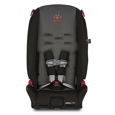 Diono Radian R100 Convertible + Booster Folding Child Safety Car Seat Black Mist