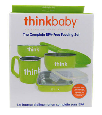 Thinkbaby The Complete BPA-Free Feeding Set - Light Green
