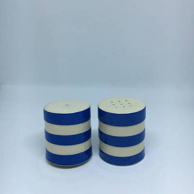 T.G. Green Salt and Pepper Shakers  Cornishware Cornish Blue