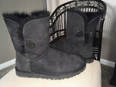 UGG Women's Never folded down Bailey Button Boots Black Size 8 M