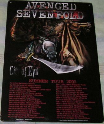 Avenged Seven Fold Tour Rock Tin/metal Sign Garage Man Cave