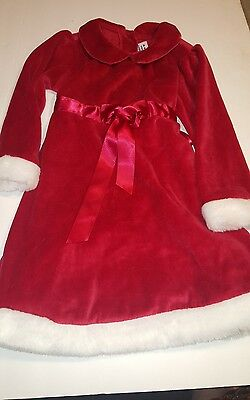 Baby Girls Kids Clothes Christmas Party Red Santa Long Sleeve  Dresses 3t