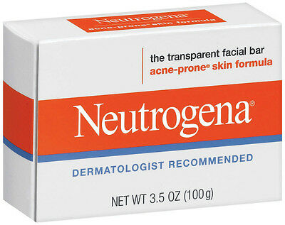 Neutrogena Transparent Facial Bar- Acne-Prone Skin Formula Soap 3.5oz